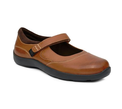 ANODYNE-W019:Cognac-BROWN-Casual Mary Jane-Velcro