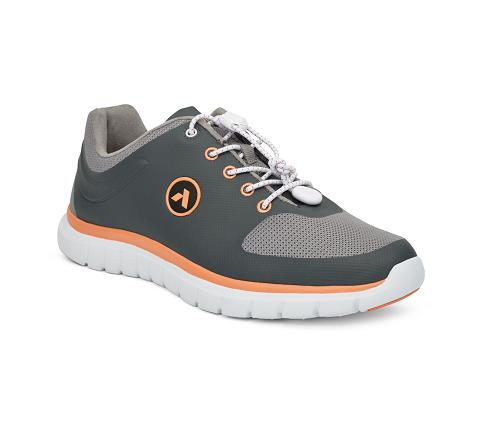 ANODYNE-W023:Grey:Orange-GREY-Sport Runner-Lace