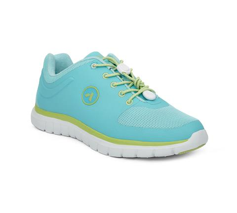 ANODYNE-W023:Teal:Lime-GREEN-Sport Runner-Lace