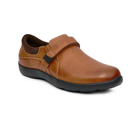 ANODYNE-W051:Cognac-BROWN-Casual Dress-Velcro