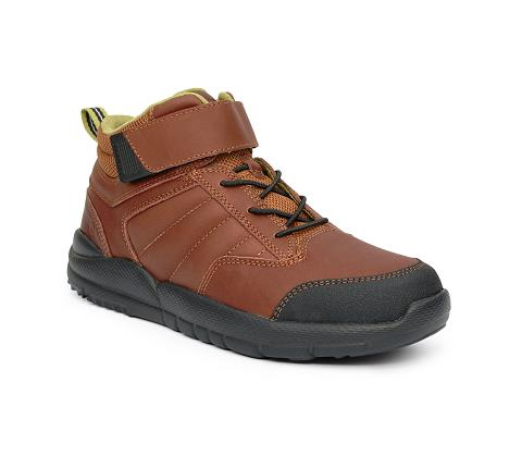 ANODYNE-W055:Whiskey-BROWN-Trail Boot-Velcro
