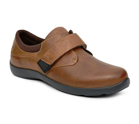 ANODYNE-W067:Chocolate-BROWN-Casual Comfort-Velcro
