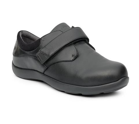 ANODYNE-W081:Black Double Depth-BLACK-Double Depth Casual Comfort-Velcro