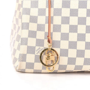 AUTHENTIC Louis Vuitton Artsy Damier Azur MM PREOWNED (WBA368)