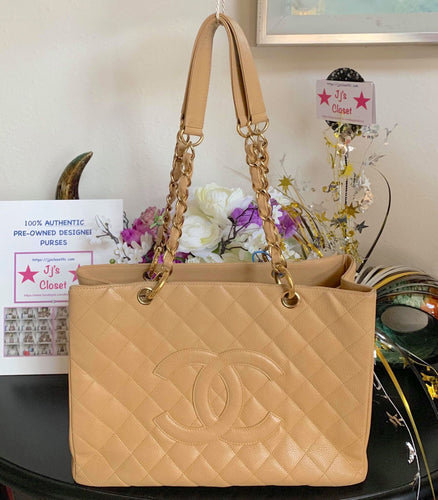 AUTHENTIC Chanel GST Beige Caviar PREOWNED