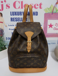 AUTHENTIC Louis Vuitton Montsouris Monogram MM Backpack PREOWNED