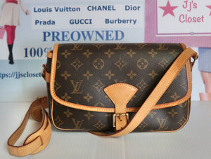 AUTHENTIC Louis Vuitton Sologne Monogram Crossbody PREOWNED (WBA109)