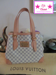 AUTHENTIC Louis Vuitton Hampstead Damier Azur MM Preowned