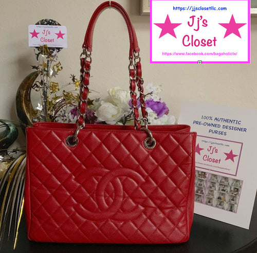 AUTHENTIC Chanel GST Red Caviar PREOWNED