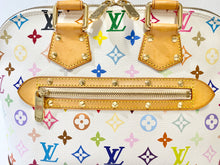 Load image into Gallery viewer, AUTHENTIC Louis Vuitton Alma White Monogram Multicolor PM PREOWNED (WBA273)