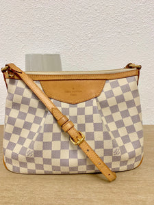 AUTHENTIC Louis Vuitton Siracusa Damier Azur PM PREOWNED
