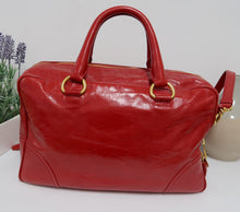 Load image into Gallery viewer, AUTHENTIC Prada Vitello Shine Red PREOWNED (WBA121)