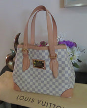 Load image into Gallery viewer, AUTHENTIC Louis Vuitton Hampstead Damier Azur MM Preowned