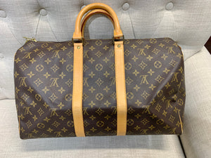 AUTHENTIC Louis Vuitton Keepall 45 PREOWNED (WBA262)