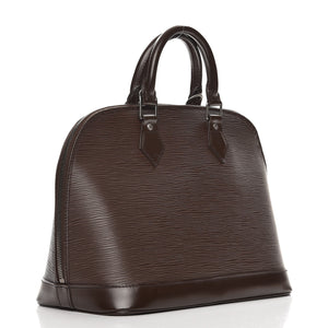 AUTHENTIC Louis Vuitton Alma Dark Brown Epi PM PREOWNED (WBA435)