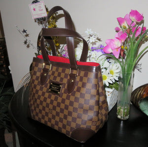 AUTHENTIC Louis Vuitton Hampstead Damier Ebene PM Preowned