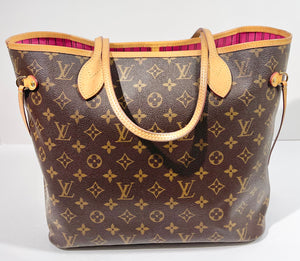AUTHENTIC Louis Vuitton Neverfull Monogram MM PREOWNED (WBA356)