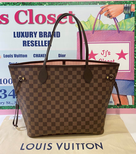 AUTHENTIC Louis Vuitton Neverfull Damier Ebene MM PREOWNED (WBA286)