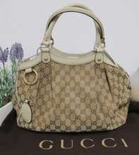 Load image into Gallery viewer, AUTHENTIC Gucci Sukey Off-White PREOWNED (WBA086)