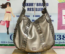Load image into Gallery viewer, AUTHENTIC BURBERRY Silver Metallic Hobo PREOWNED (WBA369)