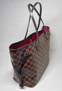 AUTHENTIC Louis Vuitton Neverfull Damier Ebene MM PREOWNED (WBA382)