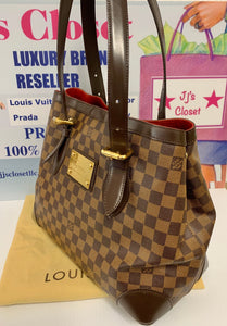 AUTHENTIC Louis Vuitton Hampstead Damier Ebene PREOWNED (WBA199)
