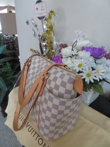 AUTHENTIC Louis Vuitton Totally PM Damier Azur Preowned