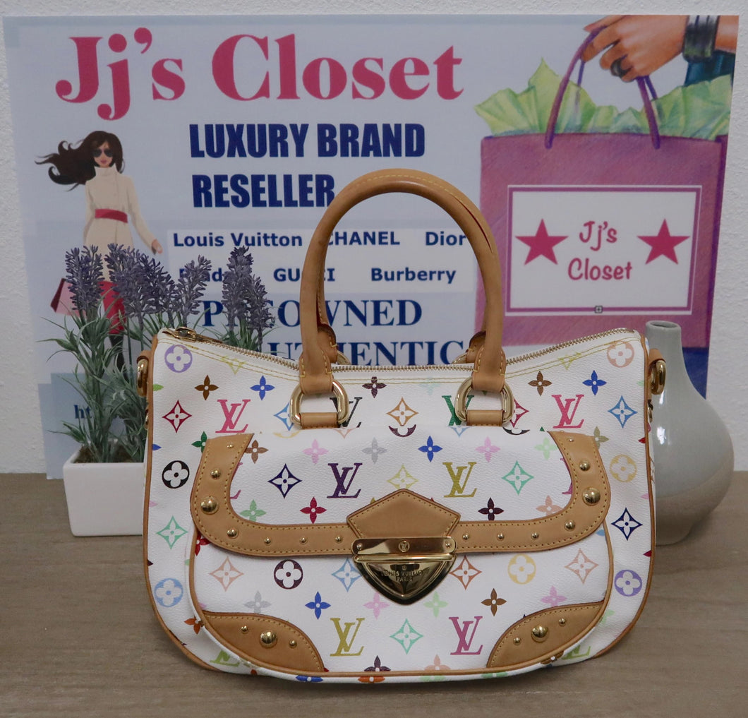 AUTHENTIC Louis Vuitton Rita White Multicolore PREOWNED