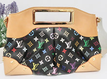 Load image into Gallery viewer, AUTHENTIC Louis Vuitton Judy Black Multicolore MM Preowned (WBA166)