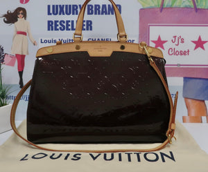 AUTHENTIC Louis Vuitton Brea Vernis Amarante MM PREOWNED