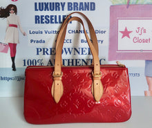 Load image into Gallery viewer, AUTHENTIC Louis Vuitton Rosewood Red Vernis Preowned (WBA198)