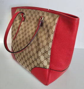 AUTHENTIC Gucci GG Bree Red Preowned (WBA158)
