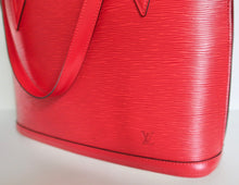 Load image into Gallery viewer, AUTHENTIC Louis Vuitton Lussac Red Epi Preowned (WBA206)
