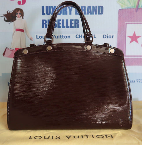 AUTHENTIC Louis Vuitton Brea Electric Epi Prune MM PREOWNED (WBA041)