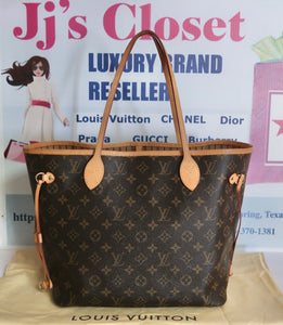 AUTHENTIC Louis Vuitton Neverfull Monogram MM PREOWNED (WBA204)