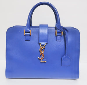 AUTHENTIC Yves Saint Laurent YSL Monogram Small Cabas PREOWNED (WBA039)