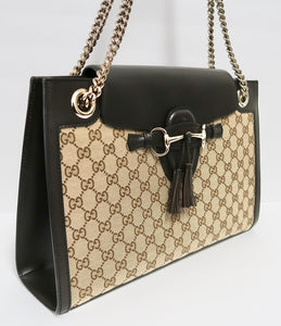 AUTHENTIC Gucci Emily Chain Large Bag PREOWNED (WBA216)