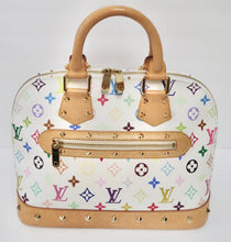 Load image into Gallery viewer, AUTHENTIC Louis Vuitton Alma White Monogram Multicolor PM PREOWNED (WBA224)