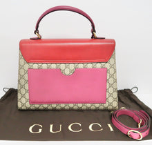 Load image into Gallery viewer, AUTHENTIC Gucci GG Supreme Monogram Medium Padlock Top Handle Bag PREOWNED (WBA228)