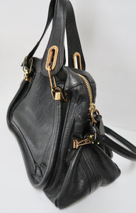 AUTHENTIC Chloe Paraty Medium Black PREOWNED (WBA232)