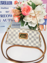 Load image into Gallery viewer, AUTHENTIC Louis Vuitton Eva Clutch Damier Azur PREOWNED (WBA234)