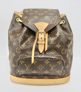 AUTHENTIC Louis Vuitton Montsouris Monogram MM Backpack PREOWNED (WBA236)