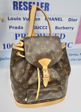 Load image into Gallery viewer, AUTHENTIC Louis Vuitton Montsouris Monogram MM Backpack PREOWNED (WBA236)