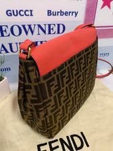 Load image into Gallery viewer, AUTHENTIC Fendi  Grande Zucca Messenger Bag PREOWNED