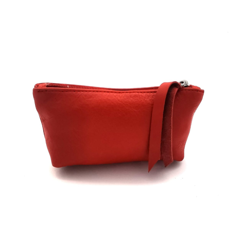 Ateljee Small Leather Pouch - Red