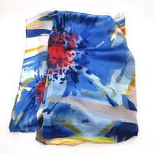 Load image into Gallery viewer, Silky scarf - Brushstroke blooms
