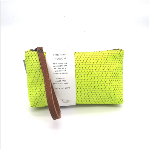 Midi-Pouch Leather - 2020 Summer / Lime neon print