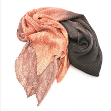 Load image into Gallery viewer, Vintage Pleat Scarf - Multi Colour