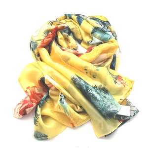 Silk Blend Bloom Wrap - Yellow