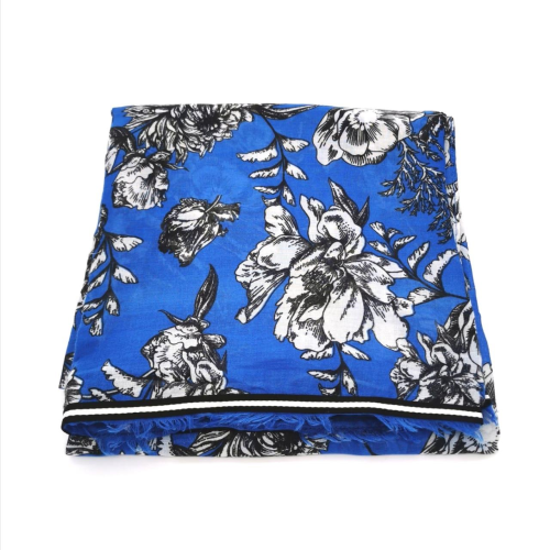 Retro Trim Bloom Scarf - Cobalt